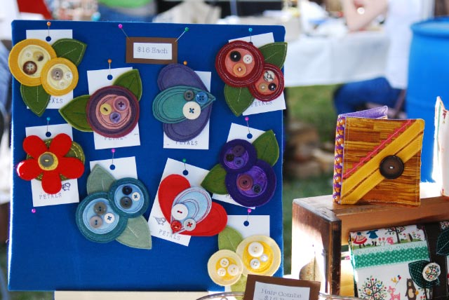 Renegade Craft Sale - Felt Flower Pins