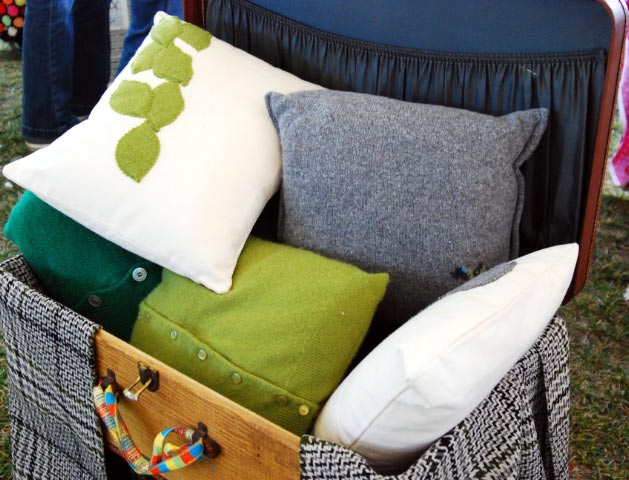 Renegade Craft Sale Re-purposed Pillows