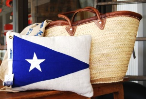 The Faded Awning Nautical Pillow