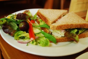Seafood Salad Sandwich with lemon mayo