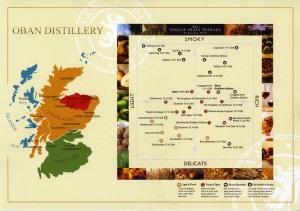 Scotland Whisky Map
