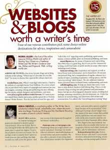 The Writer mag article