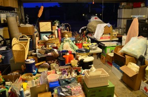 Garage full of yard sale