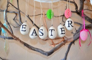 Happy Easter Egg Ornaments