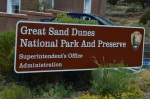 2012.07 Great Sand Dunes National Park Sign in Colorado