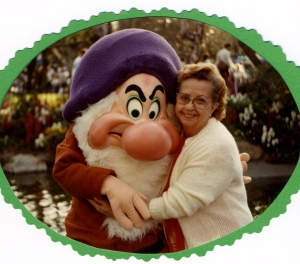 Janice Perkins and Grumpy at Disneyland