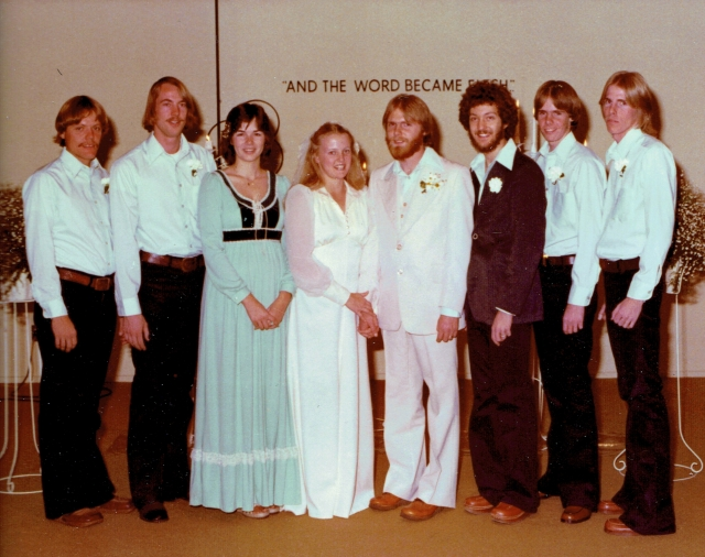 1977 Wedding Party